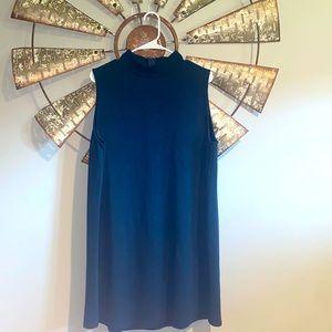 She + Sky   Blue Sleeveless Sweater Dress